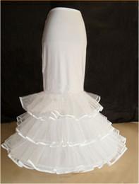 $enCountryForm.capitalKeyWord Australia - 2017 New Bride Petticoats White 1 Hoop 3 Layers Long Formal Dress Underskirt Crinoline Mermaid Corset Wedding Accessories