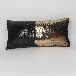Shiny weave online shopping - Woven Colors cm Hot Double Sequins Pillow Case Cover Shiny Square Pillow Case Sofa Car Decorations Mermaid Bright Magic Pillow Case