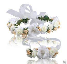 Discount hair accessories shops - Kids garlands bride garlands shop selling jewelry wearing flowers headdress bracelet photography hair accessories sea be