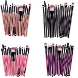 Barato Conjunto De Lábios-Novo Professional 15 pcs / Sets Eye Shadow Foundation Sombra Lip Brush Makeup Brushes Tool