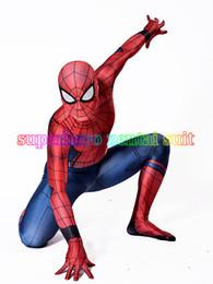 Costume Spandex Movie NZ - Civil War Spiderman Costume 3D Shade Spandex Fullbody Halloween Cosplay Spider-man Superhero Costume For Adult Kids Hot Sale free shipping