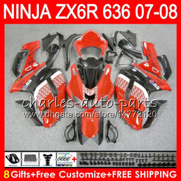 $enCountryForm.capitalKeyWord NZ - Bodywork For KAWASAKI NINJA TOP red black ZX636 ZX6R 07 08 600CC ZX600 C 26NO33 ZX 600 ZX 636 ZX 6R 07 08 ZX-636 ZX-6R 2007 2008 Fairing kit