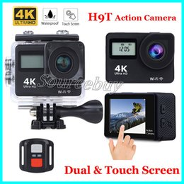Lcd touch screen remotes online shopping - H9T Ultra HD Dual screen K WIFI Action Camera m waterproof Inch TOUCH Screen D p fps Sport Cameras Remote Control