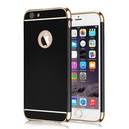 iphone cases gold color NZ - Ultra Slim 3 In 1 Shockproof Back Cover Rose Gold Color Luxury Frosted Armor Case For Iphone 7 6 plus Samsung s7 s7edge
