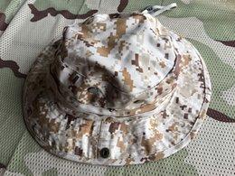 Ao ar livre é impedido bask em CS commando correndo chapéu redondo, boné de pesca cap python listras rã cap em Promoção