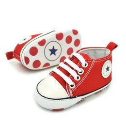Wholesale 2017 NEW infant Canvas Baby shoes anti skip Slip On breathable High first walking shoes for toddlers boys girls B601