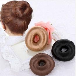 Foam bun accessory online shopping - Plate Hair Donut Bun Maker Magic Foam Hair Styling Tools Princess Accessories Elastic Hair Bands