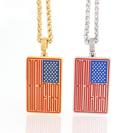Usa Flag Pendant NZ - New arrival High Quality pendants USA Flag Men Necklace Fashion Jewelry Extend Chain Stainless Steel Pendant Necklaces Mens Jewelry