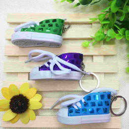 Wholesale Sports Bottle Openers Canada - Creative gift Sequin high shoes sports shoes simulation canvas shoes key buckle strap nursery school activities and gifts