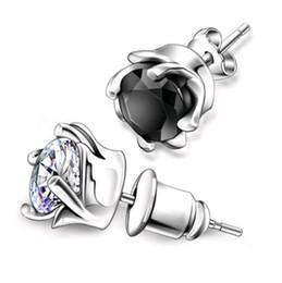 89d724ac24b new design men earring 2019 - New Design 925 Sterling silver CZ diamond  Tornado Earrings Stud