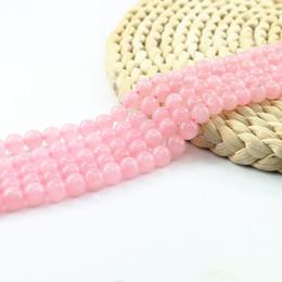 """Розовый кварц синтетические круглые бусины, розовый полудрагоценные бусины 4/6/8 / 10 мм ювелирные изделия питания шарик Strand 15 """" драгоценный камень шарик L0094# на Распродаже"""