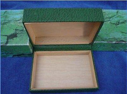 $enCountryForm.capitalKeyWord NZ - LuxuryTop Quality VINTAGE Wooden WATCH BOX CASE GENEVE SUISSE green BOX  Decorative box and certificate