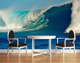 waves backdrop 2020 - Three-dimensional 3D sea wave TV wall mural 3d wallpaper 3d wall papers for tv backdrop cheap waves backdrop
