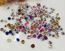 Barato Diamante Mesa Scatters Casamento-10000pcs 4mm Mixed Acrylic Diamond Confetti Wedding Party Table Scatters Decoração de cristal