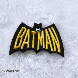 $enCountryForm.capitalKeyWord NZ - Cute Yellow Bat patch Cool Batman Hero Embroidered Iron On Patches for Clothing Jacket Felt Garment Appliques DIY Accessory 20pcs lot