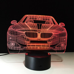 $enCountryForm.capitalKeyWord Australia - 3D Car Auto Illusion Lamp Night Light DC 5V USB Powered AA Battery Wholesale Dropshipping Free Shipping