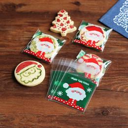 $enCountryForm.capitalKeyWord NZ - Christmas Bakery Packaging Self adhesive Cookie Bag Santa Claus Plastic Bags Clear Cookie Candy Bags Opp Food Gift Packaging