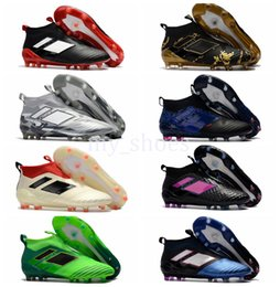 Cheap Pvc Football Canada - Newest Ace17+ PureControl Paul Pogba FG Soccer Boots Pure Control Football Shoes Soccer Cleats Boots for Mens Cheap Quality Football Shoes