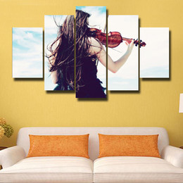 beautiful homes paint pictures NZ - 5 Pcs Set Canvas Print Painting Modern Canvas Wall Art for Wall Pcture Home Decor Artwork Beautiful picture#134