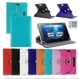 Rotating Tablet Stand Australia - Wholesale- 360 Rotating Leather Stand Universal Case Cover For Huawei MediaPad T1 7.0 Tablet case for huawei t1 7.0 T1-701u Tablet Case+P