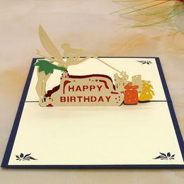 Korean birthday greetings card canada best selling korean birthday korean birthday greetings card canada 10pcs lot laser cut wedding invitations korean handmade pop up m4hsunfo