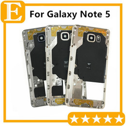 middle housing for note Australia - OEM For Samsung GALAXY Note 5 N9200 N920V N920F VS N920T N920P Back Mid Middle Frame Rear Housing Cover Bezel Note5 Replacement parts