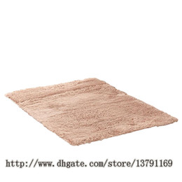 american floor mats UK - Soft Indoor Modern Shag Area Rugs Fluffy Rugs Anti-Skid Shaggy Area Rug Dining Room Home Bedroom Carpet Floor Mat Khaki