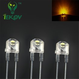Wholesale  20pcs Led 8mm Led Diode 0.5W Straw Hat Yellow High Power LEDs  Light Urtal Bright Lamp Light Bulb 8MM Emitting Diodes
