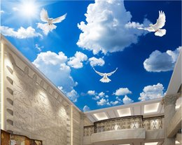 $enCountryForm.capitalKeyWord Australia - 3d photo wallpaper custom mural dove sunlight Blue sky white clouds ceiling murals home decoration living room wallpaper for walls 3d