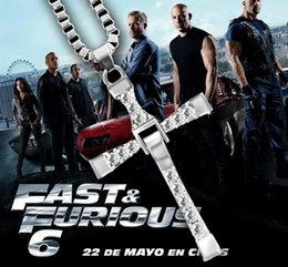 cross chain fast furious NZ - 2017 new arrival The Fast and Furious movie Dominic Toretto Classic Male Rhinestone CROSS Pendant Necklace