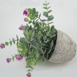 Wholesale Display Tables NZ - Green Artificial Grasses With terracotta Pots Table Flower Green Bonsai Display Flower with Tapered Round pots for Home Decor125-1022