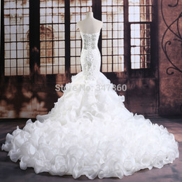 luxurious crystals mermaid wedding dress expensive bridal vestido de noiva robe de mariage vestido de noiva curto 2017 customize