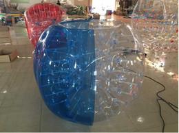 $enCountryForm.capitalKeyWord NZ - 1.5M PVC Clear And Blue Bubble Soccer Bubble Football Bubble Ball Zorb Ball Loopy Ball