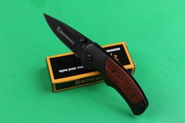 Discount browning knives - Browning FA15 mini small pocket folding knives camping hunting knife tool hand wood handle XMAS gift knife for man 1pcs