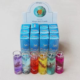 Bottle Wax Canada - Glass Bottles Ocean Gel Wax Candles Banquet Celebration Decorate High Quality Originality Gift Cylindrical Jelly Hot Sell 1 59gt J1 R