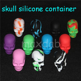 Round Skull NZ - wholesale hot selling Skull Silicone Container Wax Dab Jar Platinum Cured Oil Cosmetic Containers free dhl