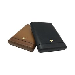 $enCountryForm.capitalKeyWord UK - Good Black and Coffee color COHIBA Leather Wood lining can hold 5 Tube Cigars COHIBA Cigar Case Case Humidor