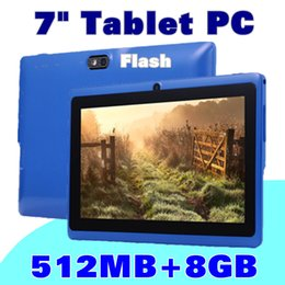 7 Wifi Tablet Canada - 2017 7 inch Capacitive A33 Quad Core Android 4.4 dual camera Tablet PC 8GB 512MB WiFi Flashlight Youtube Facebook Google J-7PB