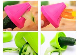 plastic radish Australia - Latest Vegetable Shred Device Kitchen Tools adget Funnel Model Spiral Slicer Cooking Salad Carrot Radish Cutter