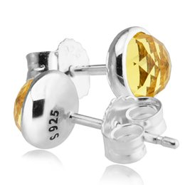 $enCountryForm.capitalKeyWord Canada - 2017 November Droplets Silver Earrings With Yellow CZ 100% 925 Sterling Silver Jewelry DIY