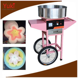 Cotton Cart NZ - Commercial Electric Candy Floss Machine with Cart Cotton Candy Floss Maker Machine Children Snack Food Machine