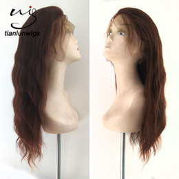 $enCountryForm.capitalKeyWord Australia - Wholesale 16inch 130% density virgin straight lace front human hair wig glueless full lace wigs brazillian hair wigs for africa american