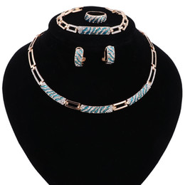 Chinese  African Beads Jewelry Sets Necklace Crystal Enamel African Maxi Statement Jewelry Wedding Bridal Pendant Dress Accessories manufacturers