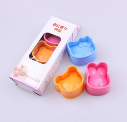 RubbeR ball beaRings online shopping - New DIY cartoon cat rabbit bear series Sandwich mould Rice and rice ball mould Sushi mould