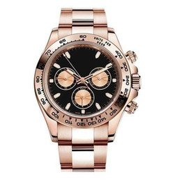 Pink ceramic watch online shopping - Factory Supplier Luxury Sapphire mm k Pink Gold Automatic Mens Men s Watch Watches No Chronograph Black Dial