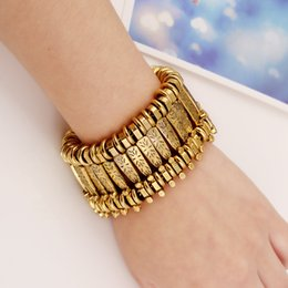 $enCountryForm.capitalKeyWord NZ - Ethnic Bohemian Bracelet Turkish Jewelry Silver and Gold Punk Alloy Link Chain Bracelet Vintage Coin Bracelets