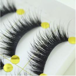 Vente en gros Vente en gros - 5 paires de maquillage Handmad Natural Fashion faux cils doux long cils yeux cosmétique livraison gratuite