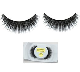 $enCountryForm.capitalKeyWord Canada - 017 Mink Hair eyelashes Plastic Cotton Stalk False Eyelashes Mink Hair Handmade Eye Lashes Strengthen The Eyelash