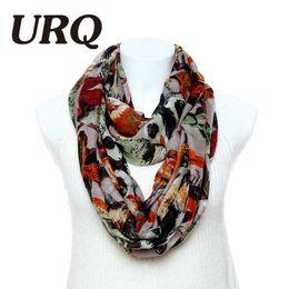 Cotton Viscose Scarves Australia - Wholesale-New fashion Infinity scarves 1pc Autumn Leaves Print Woman Viscose Cotton Tube scarves V8A9219