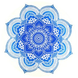 $enCountryForm.capitalKeyWord UK - Lotus Flower 59 Inch Round Yoga Mat Bohemian Mandala Tapestry Wall Decorative Hanging Tapestries Summer Beach Towel Throw Rug Blanket Gift